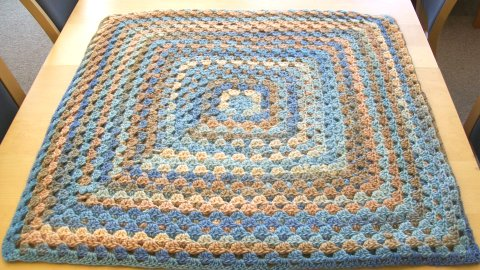 Granny Square Crochet Afghan Pattern | FaveCrafts.com